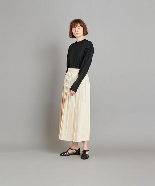 [BEAUTY&YOUTH UNITED ARROWS] <Steven Alan>COTTON DENIM PLEATED SKIRT/スカート
