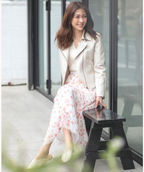 [MEW'S REFINED CLOTHES] 花柄チュールスカート