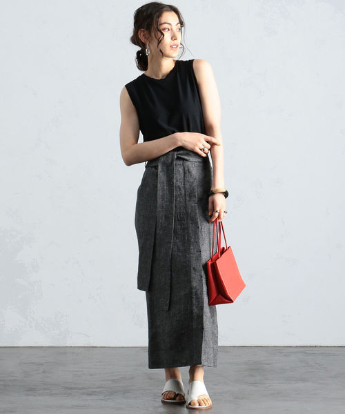 [BEAMS WOMEN] BEAMS LIGHTS / リネン スカート