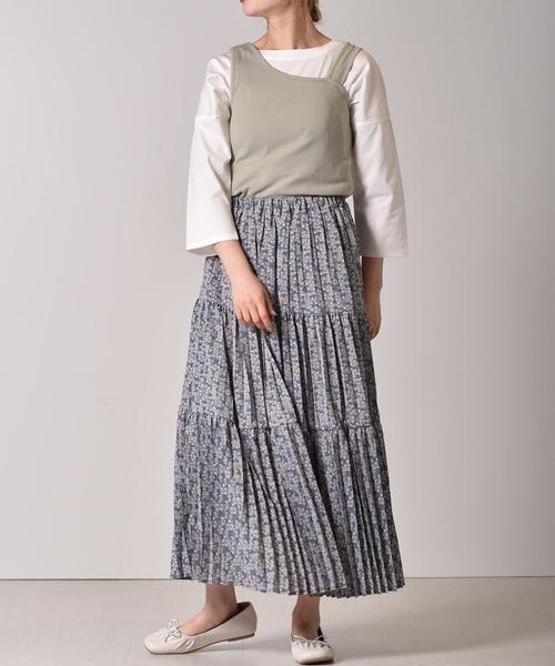 [RETRO GIRL] ティアードプリーツスカート