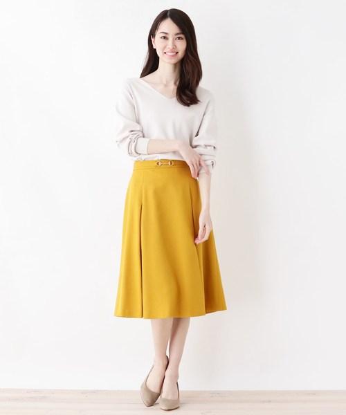 [SOUP] 【大きいサイズあり・17号・19号】ビットボックス安心丈スカート