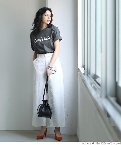 [coca] プリントロゴTシャツ