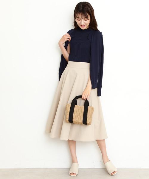 [N.(N. Natural Beauty Basic)] ◆テックツイルフレアスカートⅡ