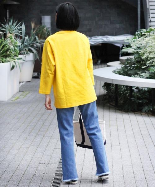 [JOURNAL STANDARD] 【CHAMPION/チャンピオン】T1011 RAGLAN 3/4 SLEEVE T-SHIRT:Tシャツ◆