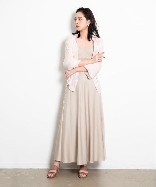 [YARD PLUS/AUNT MARIE'S] AUNT MARIE'S サテンマーメイドスカート