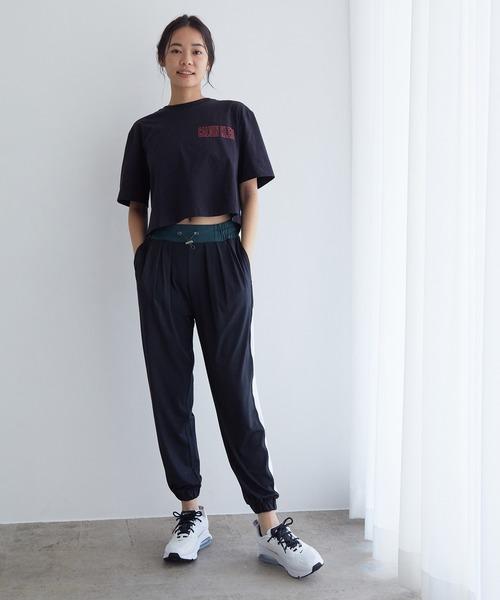 [NERGY] 【24H快適】【UV&接触冷感】バイカラーラインストレッチパンツ