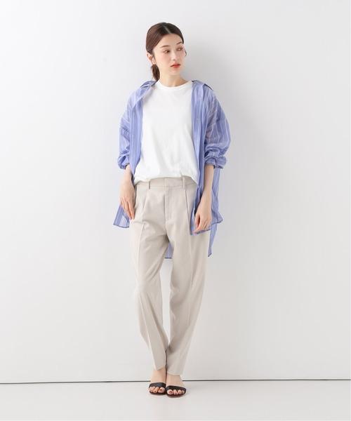 [Spick & Span] シアーストライプシャツ◆