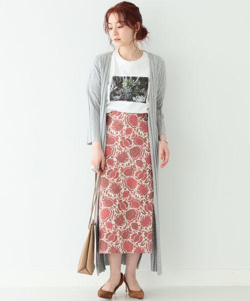 [BEAMS WOMEN] BEAMS LIGHTS / 更紗 タイト スカート