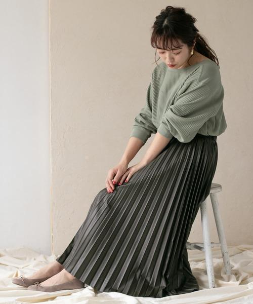 [ITEMS URBAN RESEARCH] フェイクレザープリーツスカート