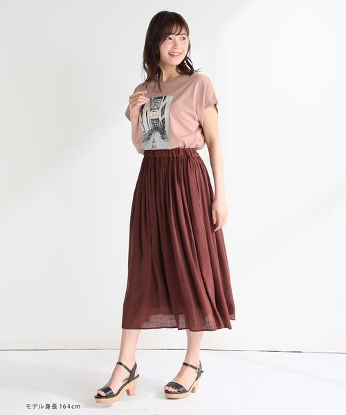 [Honeys] ロングギャザースカート