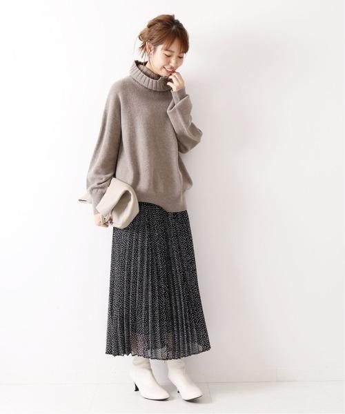 [Spick & Span] ドットシフォンプリーツスカート2◆