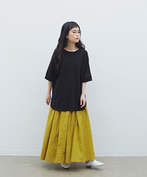 [YARD PLUS/AUNT MARIE'S] Libra コットンキャンブリックボリュームスカート