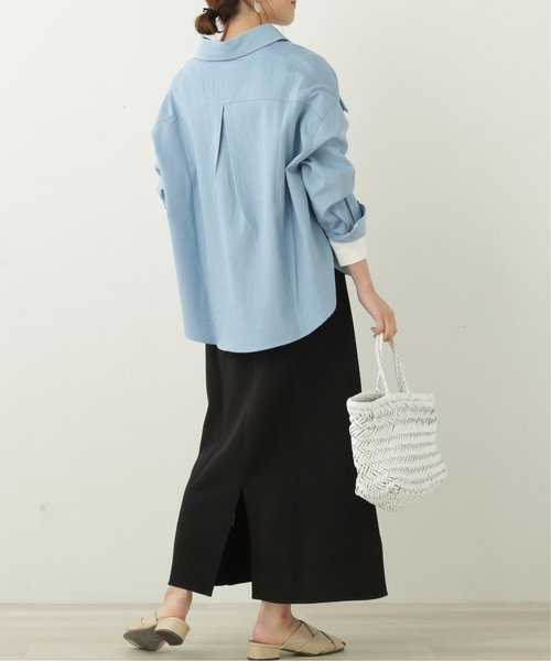 [Ray Cassin] デニムBIGポケットオーバーシャツ