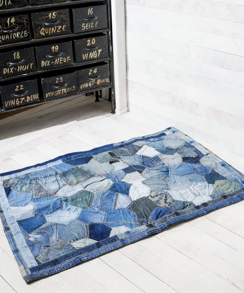 [1 to 10 people] 【75】JEANS BACK STYLE CENTER RUG(90×140)