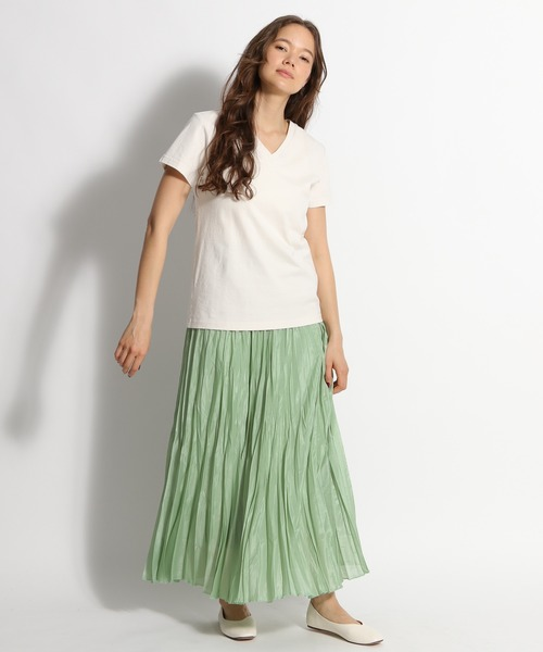 [niko and...] シースループリーツスカート