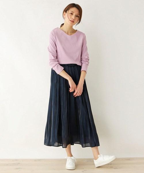 [SHOO・LA・RUE] 【M-LL】シャイニープリ-ツスカート