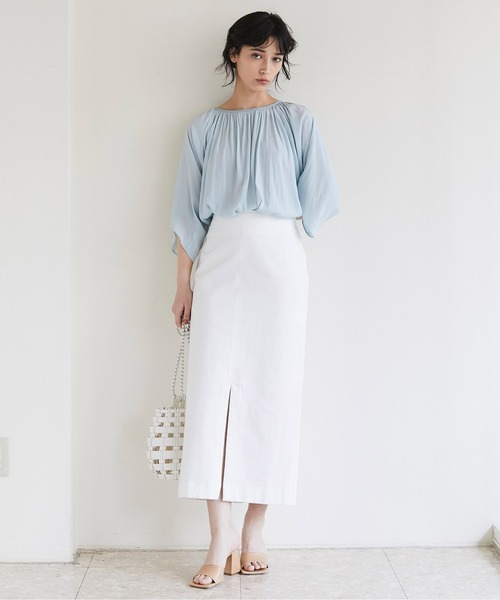 [GALLARDAGALANTE] デニムペンシルスカート