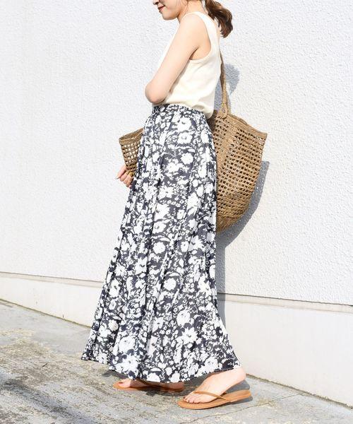 [SHIPS for women] フラワープリントスカート