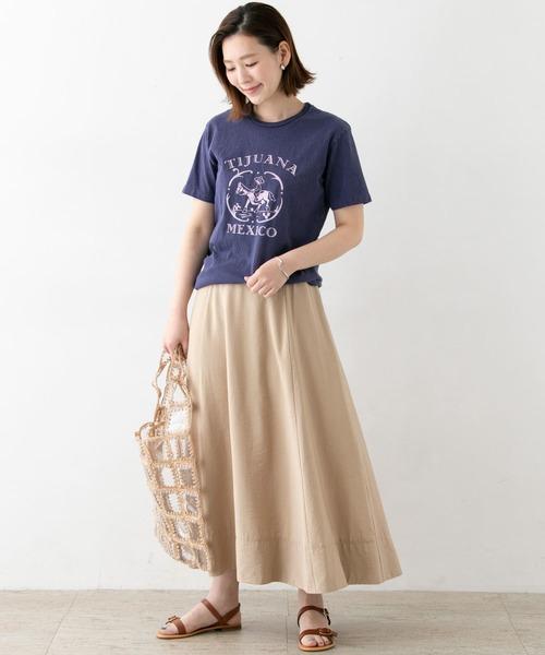[URBAN RESEARCH ROSSO WOMEN] サテンフレアスカート