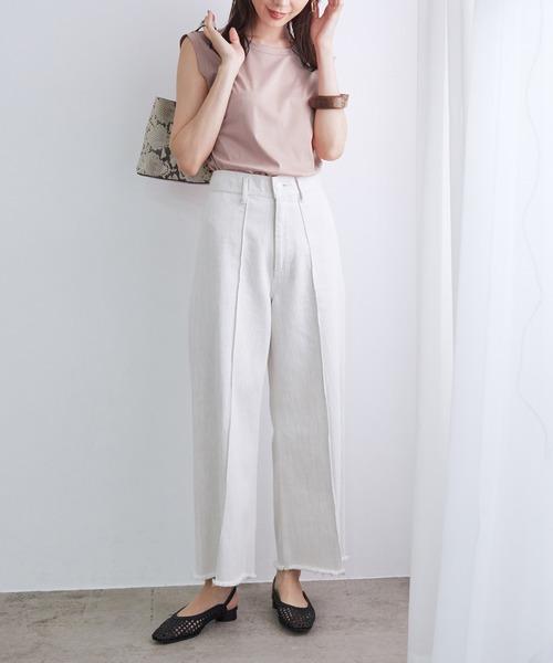 [ROPE'] <新色追加>【Sophia】スムースノースリーブTシャツ
