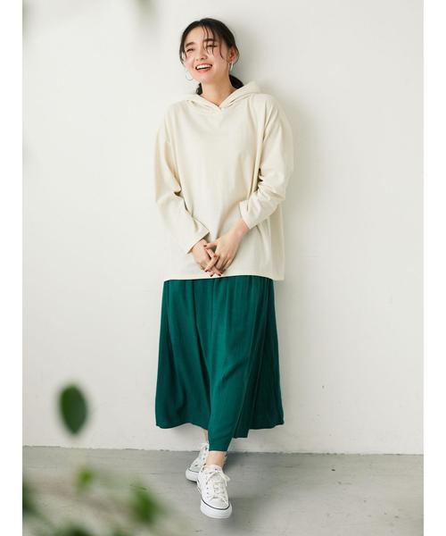 [Green Parks] スラブレーヨンスカート*★