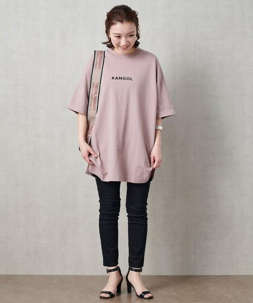 [FREAK'S STORE] 【WEB限定】KANGOL/カンゴール 別注ロゴ刺繍Tシャツ