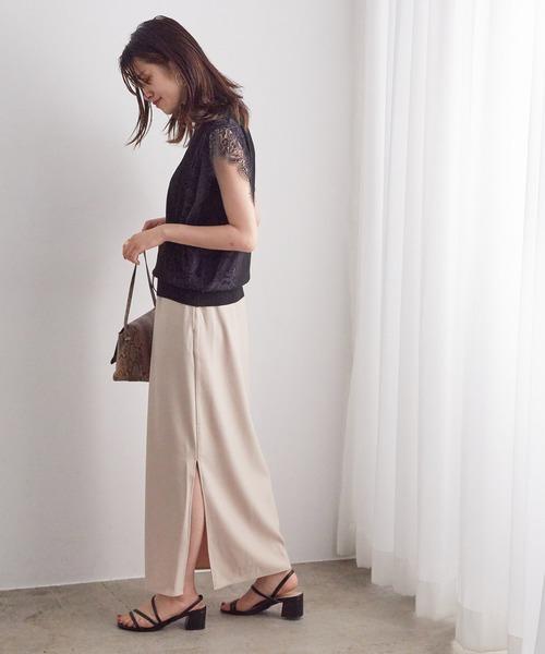 [ViS] 【WEB限定】Iラインスリットロングスカート