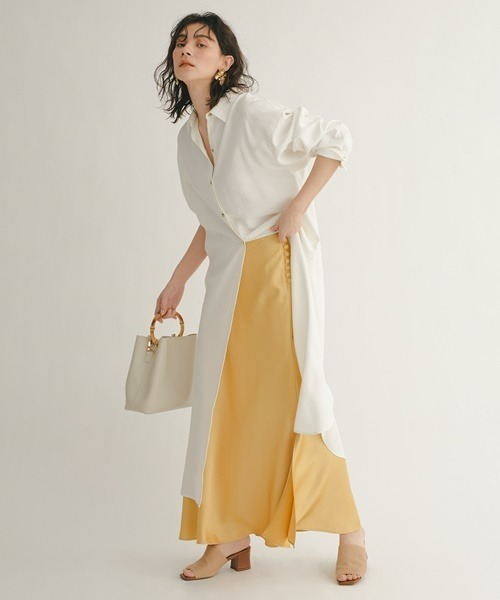 [SNIDEL] サテンロングスカート