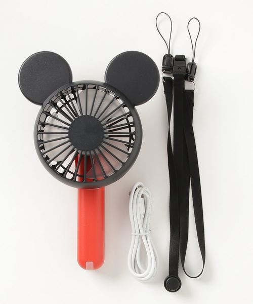 [LB/S] 【DISNEY/ディズニー】 最大6時間駆動 ネックストラップ付き 大人気ミッキー顔型シルエット 3WAYハンディファン 携帯型扇風機