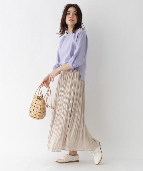 [aquagirl] グロッシーワッシャープリーツスカート