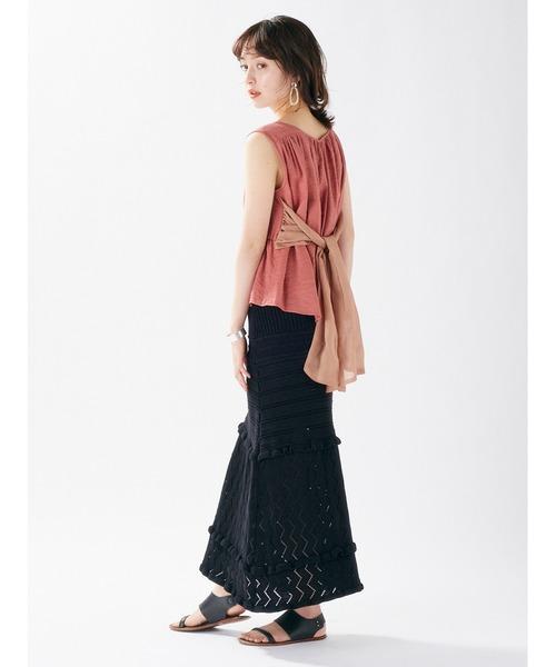 [DRWCYS] MIX透かしニットスカート