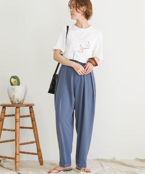 [select MOCA] 2020 S/S ニュアンスクリエイトプリントTシャツ/ユニークプリント半袖Tシャツ