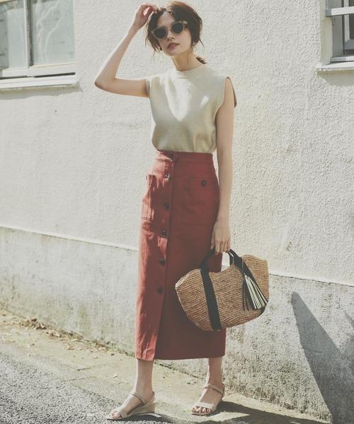 [BABYLONE] キャンパスタイトスカート