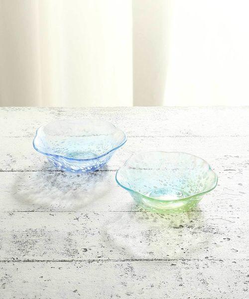 [Afternoon Tea LIVING] 江戸硝子デザートプレートペアセット