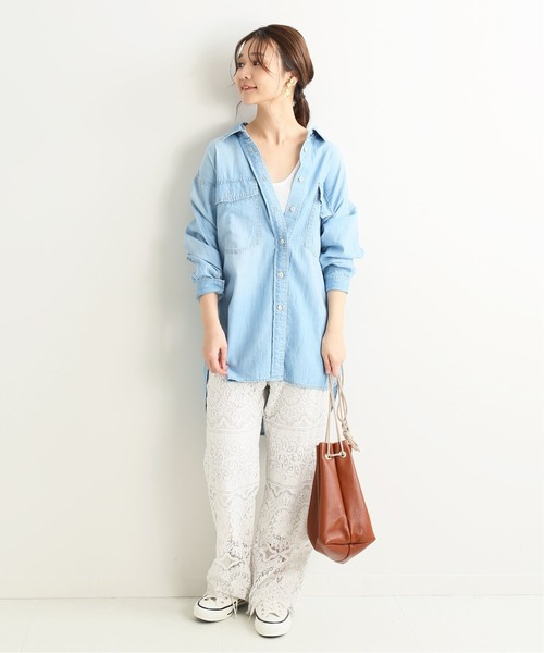[IENA] LE DENIM light oz シャツ◆
