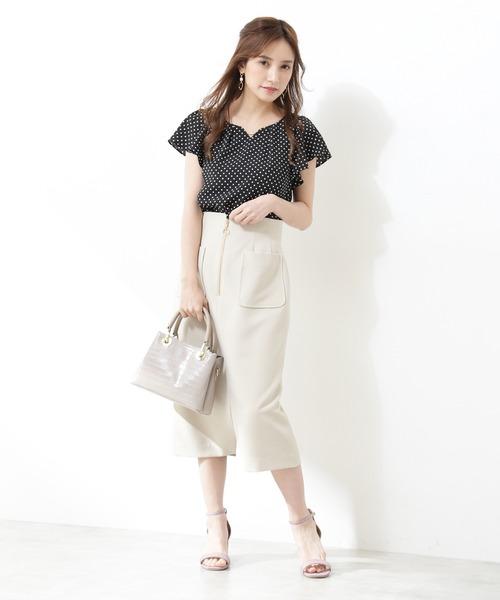 [PROPORTION BODY DRESSING] 【ブルー:WEB限定カラー】センタージップタイトスカート