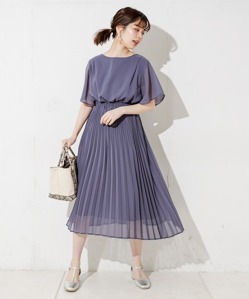 [natural couture] 【WEB限定】親子プリーツパール釦ワンピース