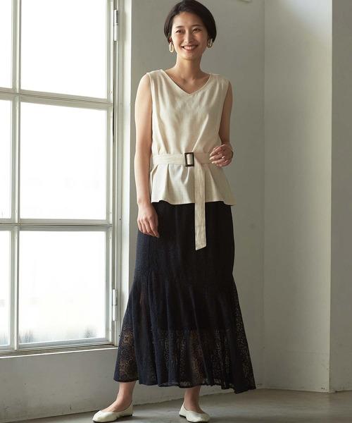 [GeeRA] 【WEB限定】マーメイドレーススカート