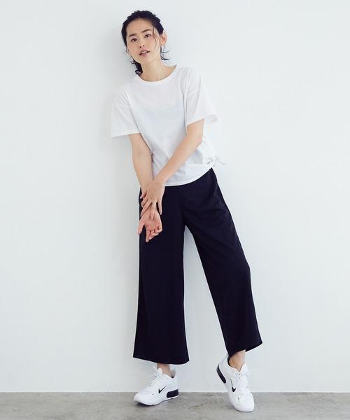 [NERGY] 【24H快適】【ひんやりタッチ】アシンメトリーフレアTシャツ