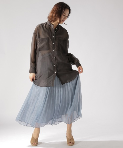 [BAYFLOW] シアープリーツスカート