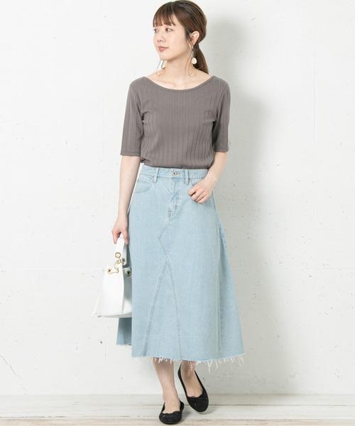 [URBAN RESEARCH] リメイク風フレアデニムスカート