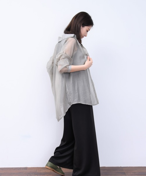 [Bonjour Sagan] シアーBIGシャツ【ZOZOTOWN限定商品】