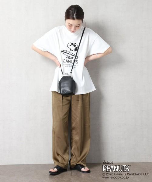 [FREAK'S STORE] 【WEB限定】PEANUTS/ピーナッツ 別注スヌーピーモノトーンプリントTシャツ