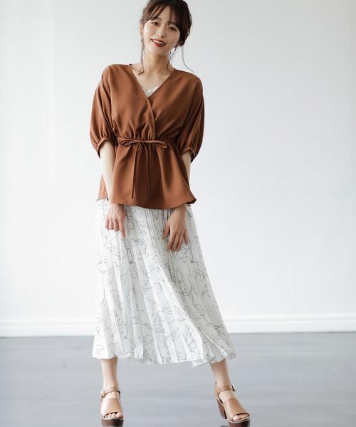 [INGNI] 線画調プリーツ/スカート