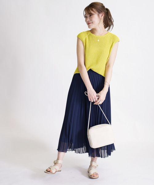 [SHIPS for women] シフォンプリーツスカート