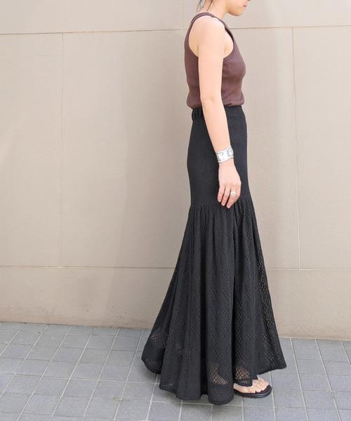 [AKTE] ロングレーススカート