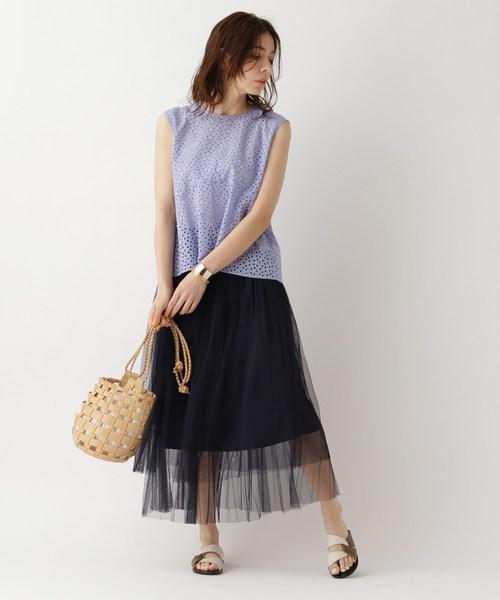 [aquagirl] チュールプリーツスカート