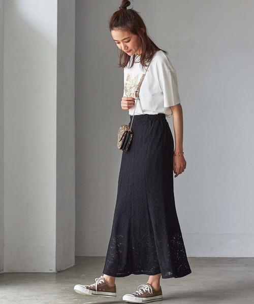 [GeeRA] 【WEB限定】プリーツレーススカート