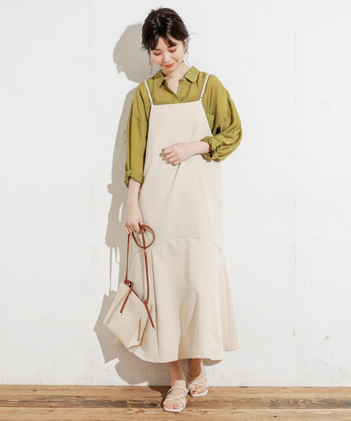 [natural couture] シアービッグシャツ