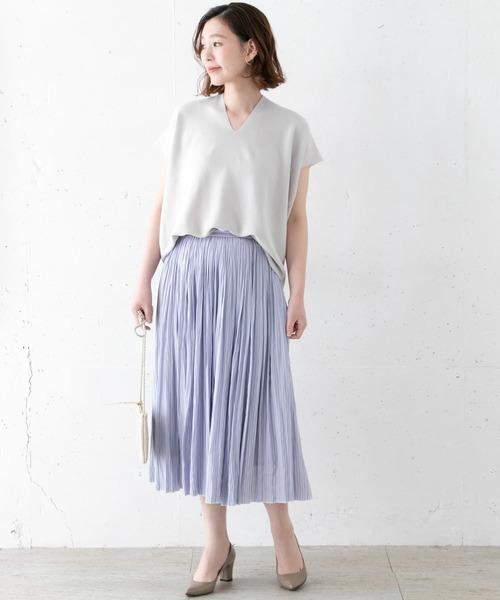 [URBAN RESEARCH ROSSO WOMEN] 割繊ストライプスカート